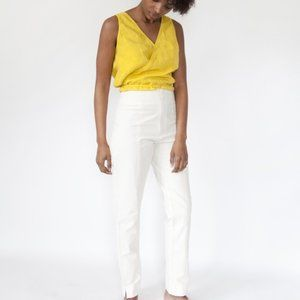 esby apparel beige high waisted cigarette pants